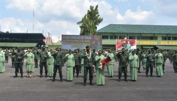 Danrem 045/Gaya Hadiri Pengantar Tugas Mayjen TNI Irwan