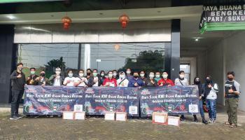 Klub Motor Kawasaki Ninja Babel Gelar Baksos Melawan Pandemi Covid-19