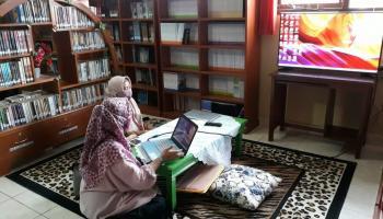 Tim DKPUS Babel Lakukan Pembinaan ke Perpustakaan SMKN 1 Tanjungpandan
