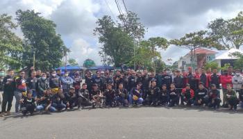 Berbagi Kebaikan, Bikers Touring Gabungan CSR Ke Toboali