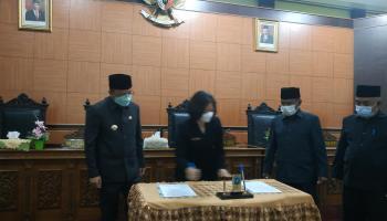 Bupati dan DPRD Sepakati RPJMD Bangka Tengah 2021-2026