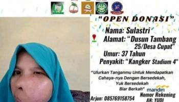 Derita Tumor Sinonasal, Sulastri Ketuk Hati Dermawan