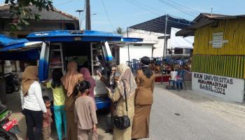 Layanan Pusling DKPUS Babel Sasar Kampung Air Asin Pasir Putih
