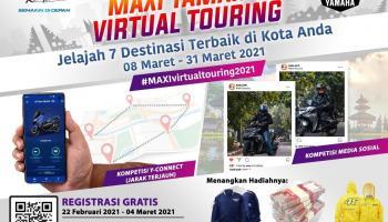 Maxi Yamaha Virtual Touring 2021, Sensasi Touring dengan Aplikasi Y-Connect