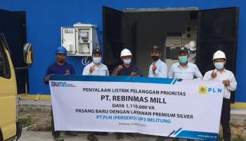 PLN Suplai Listrik 1 Juta VA untuk Pabrik Sawit di Belitung