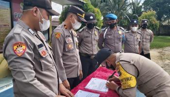 Tandatangani Fakta integritas, Personil Polsek Payung Siap Dipecat